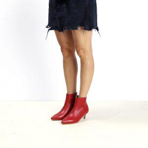 דגם מנהטן: מגפונים לנשים בצבע אדום - B.unique