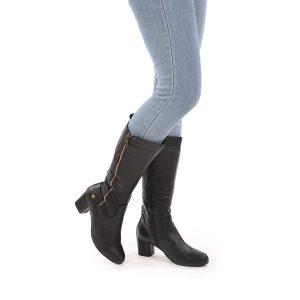 דגם שוויץ: מגפיים לנשים בצבע שחור – B.unique