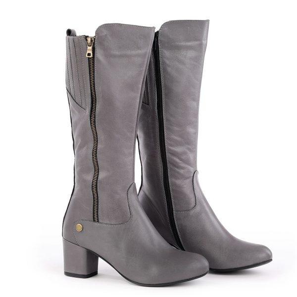 דגם שוויץ: מגפיים לנשים בצבע אפור – B.unique