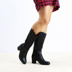 דגם ליברפול: מגפיים לנשים בצבע שחור  – B.unique