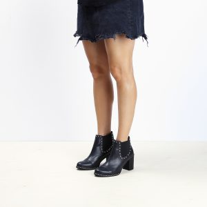 דגם קנקון: מגפוני עקב לנשים בצבע שחור  – B.unique