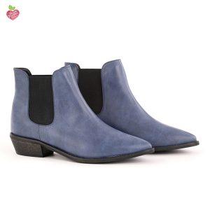 דגם שארלוט: מגפונים טבעוניים לנשים בצבע כחול - MIZU