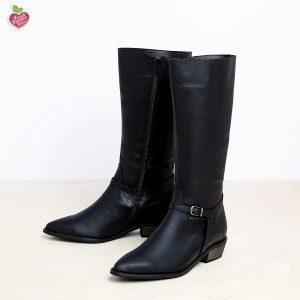 דגם יוטה: מגפיים טבעוניים לנשים בצבע שחור - MIZU
