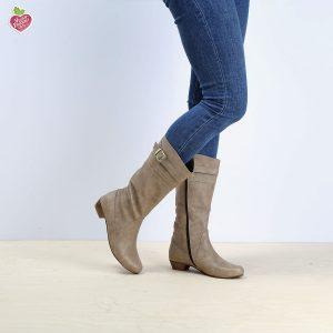 דגם דאגלס: מגפיים טבעוניים לנשים בצבע טאופ - MIZU