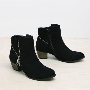 דגם ליון: מגפונים טבעוניים לנשים בצבע שחור - MIZU