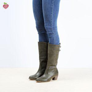 דגם בולטימור: מגפיים טבעוניים לנשים בצבע ירוק זית - MIZU