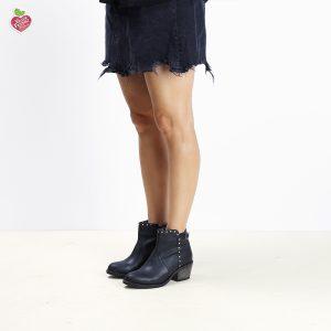 דגם פלורידה: מגפונים טבעוניים לנשים בצבע שחור - MIZU