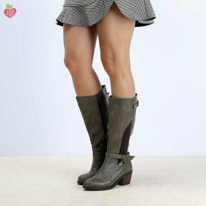 דגם קאן: מגפיים טבעוניים לנשים בצבע ירוק זית – MIZU