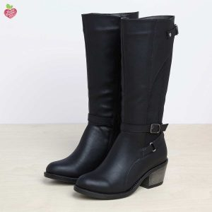דגם קאן: מגפיים טבעוניים לנשים בצבע שחור – MIZU