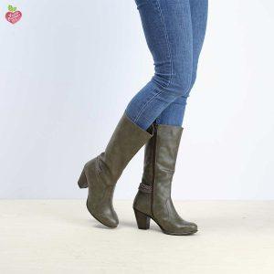 דגם וינה: מגפיים טבעוניים לנשים בצבע ירוק זית – MIZU