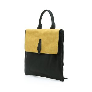 דגם אמילי: תיק גב לנשים בצבע צהוב