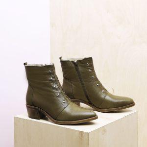 דגם יורק: נעלי נשים בצבע ירוק זית - B.unique