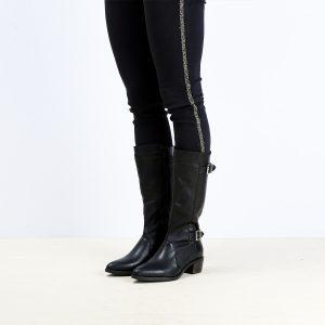 דגם פראג: מגפיים לנשים בצבע שחור - B.unique