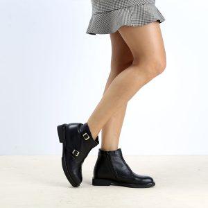 דגם אלכסיס: מגפונים לנשים בצבע שחור - B.unique