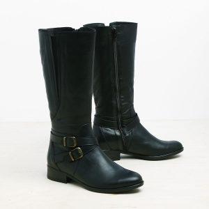 דגם אבריל: מגפיים לנשים בצבע שחור - B.unique
