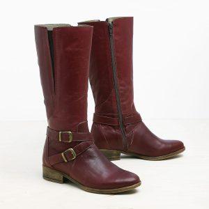 דגם אבריל: מגפיים לנשים בצבע בורדו - B.unique