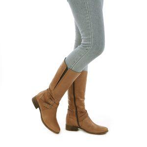דגם אבריל: מגפיים לנשים בצבע קאמל - B.unique