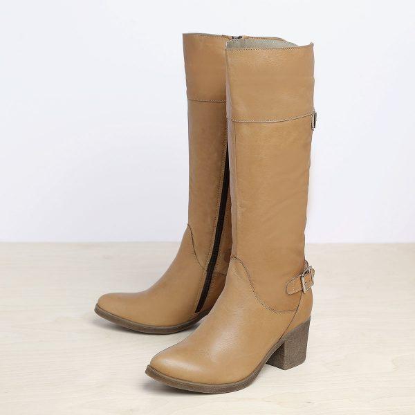 דגם עמליה: מגפיים לנשים בצבע קאמל - B.unique