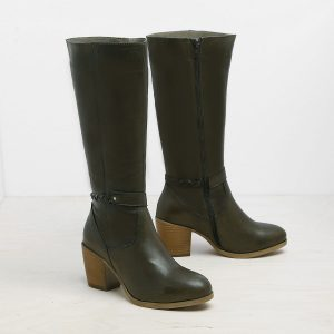 דגם ניו אורלינס: מגפיים לנשים בצבע ירוק זית – B.unique