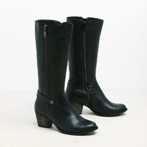 דגם המבורג: מגפיים לנשים בצבע שחור - B.unique