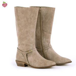 דגם יוטה: מגפיים טבעוניים לנשים בצבע טאופ - MIZU