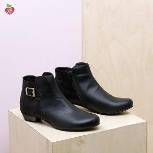 דגם מלטה: מגפונים טבעוניים לנשים בצבע שחור - MIZU