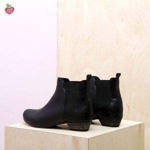 דגם סנטיאגו: מגפונים טבעוניים לנשים בצבע שחור - MIZU