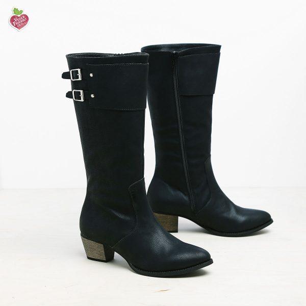 דגם בולטימור: מגפיים טבעוניים לנשים בצבע שחור - MIZU