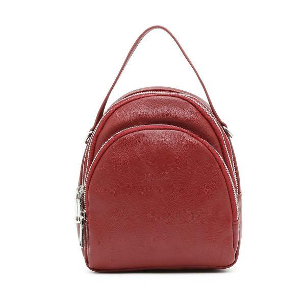 דגם תמרה: תיק גב לנשים בצבע אדום
