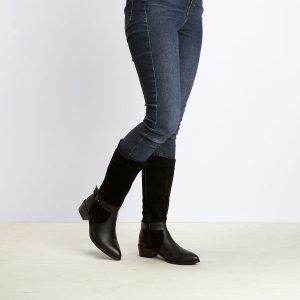 דגם פיניקס: מגפיים לנשים בצבע שחור – B.unique