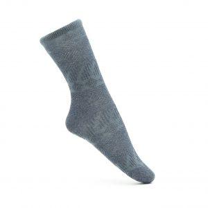שלישיית גרביים בצבעי כחול, אפור וורוד