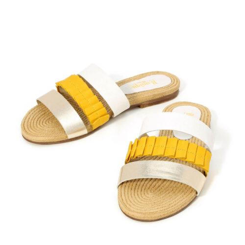 דגם נויה: כפכפים בצבע צהוב