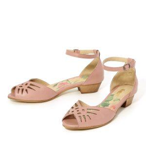 דגם ענבר: נעלי עקב בצבע סגול - B.unique