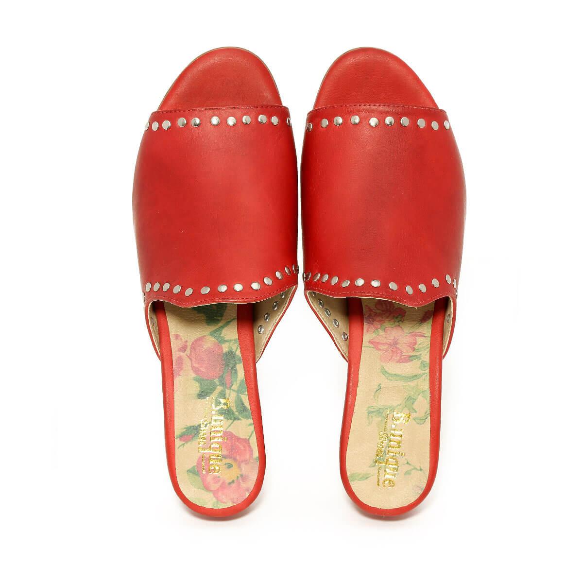 דגם יסמין: כפכפים בצבע אדום