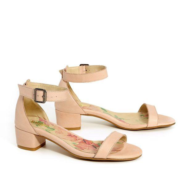 דגם דליה: נעלי עקב בצבע ניוד - B.unique