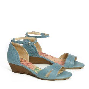 בלעדי לאתר - דגם איילה: נעלי עקב בצבע ג'ינס - B.unique
