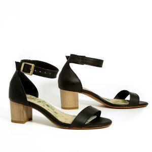 דגם עמית: נעלי עקב בצבע שחור - B.unique