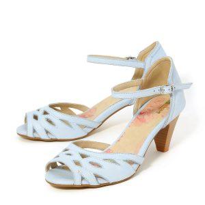 דגם כנרת: נעלי עקב בצבע תכלת - B.unique