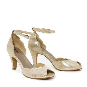 דגם ליטל: נעלי עקב בצבע זהב - B.unique