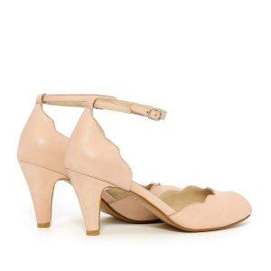 דגם ליטל: נעלי עקב בצבע ניוד - B.unique