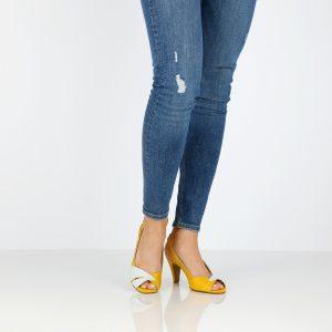 דגם סמדר: נעלי עקב בצבע צהוב - B.unique