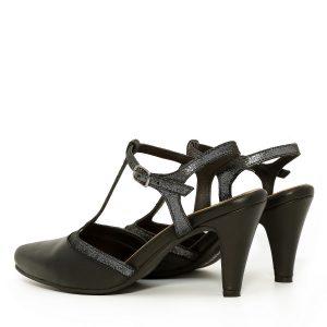 דגם לירון: נעלי עקב בצבע שחור - B.unique