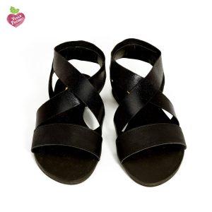 דגם לילך: סנדלים טבעוניים בצבע שחור - MIZU
