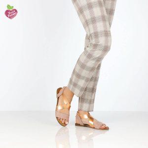 דגם לילך: סנדלים טבעוניים בצבע ורוד - MIZU