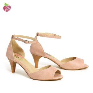 דגם נירית: נעלי עקב טבעוניות בצבע ורוד - MIZU