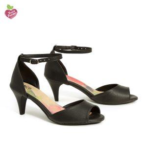 דגם נירית: נעלי עקב טבעוניות בצבע שחור - MIZU