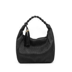 דגם גבריאלה: תיק צד גדול לנשים בצבע שחור