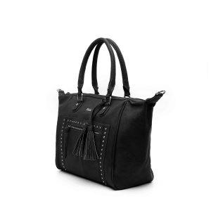 דגם ג'ני: תיק צד גדול לנשים בצבע שחור