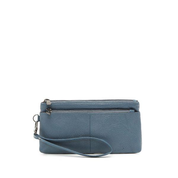 דגם ליה: ארנק עור לנשים בצבע כחול