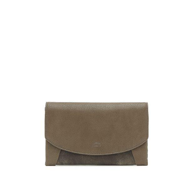 דגם קורל: ארנק לנשים בצבע חאקי